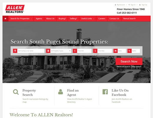 Haroldallen.com Equity child theme customization with IDX Broker for Real Estate