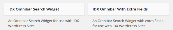 IDX Broker Omnibar Search Widgets